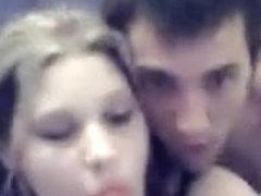Naughty girlfriend receives fucked on webcam