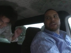 Adorable prostitute Layla does some blowjobs in the car