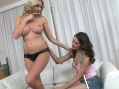 Lexi Lowe and Nadia Bella get wet
