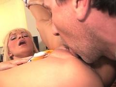 Incredible pornstar in Fabulous Blonde, Creampie xxx clip