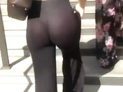 See through tight black pants
