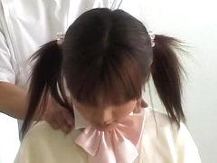 Perfect Asian teen enjoys a hot voyeur erotic massage