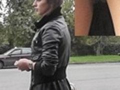 Hotty in high heels hose up petticoat
