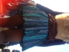 spy sexy teens mini skirt and nylon romanian