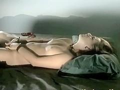 Sensual slow masturbating