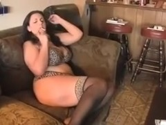 Homemade BBW video of me masturbating and smoking