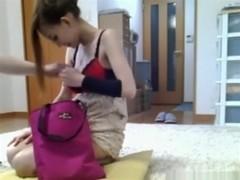 Dude has sex with an asian streetslut on the floor