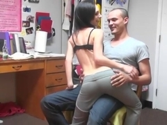 Having a threesome with his roommate