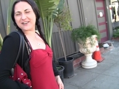 Sexy brunette gf merciless doggy fuck before the camera