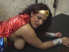 Mellie D (as Wonder Woman) receives screwed