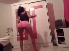 My amateur Brazilian GF shaking her butt like a pro