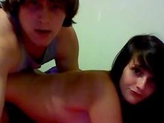 college couple on webcam