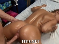 Tasting a luscious shaved twat