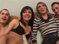 Sassy college gals participate in hardcore sex party