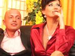 Euro glam piss lovers drenched in threesome