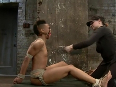 Live! Feisty whore- bound, tormented and fucked!