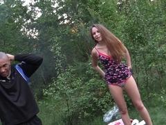 Albina & Ava & Taylor & Zoe in black dude fucks college chicks in an orgy video