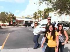 Chubby amateur Brittney gets filmed on the street