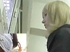 Hawt blond upskirt beauty
