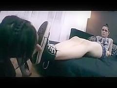 Hot Lesbian Foot Domination