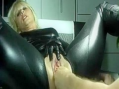 lovely mature gets fisted all the way