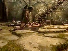 Perils of escaped Skyrim slavegirl 06