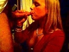 Blonde Mature Wife Sucking At Home
