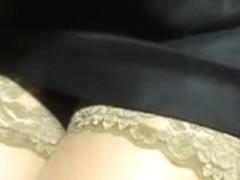flashing stockings in restoraunt