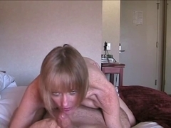 Golden-Haired Mother I'd Like To Fuck Acquires Her Lovely Fuckhole Filled With Ball Cream !