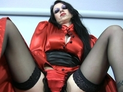 Trinity-Productions: Red Governess Masturbating