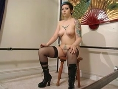 Sex villein canes and bones sweetheart in latex