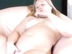 Delightful blonde milf topless on webcam wants me to watch