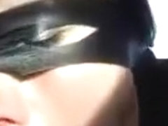 Masked spanish zorro girl with ugly teeth crazy blowjob and missionary sex in the car