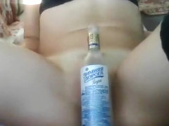 Analedi plays with a bottle