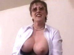 Big Tits Hairy Mature Teacher Masturbation pt1