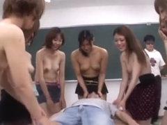 Horny Japanese chick Kei Niiyama, Rui Hazuki, Chihiro Asai in Exotic Group Sex, College/Gakuseifuk.
