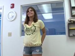 Izzy Bella Blu demonstarates her appetizing vagina