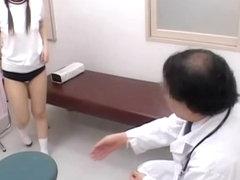 Asian twat receives medical examination in voyeur spy film