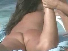Amazing amateur pussies of nudist beach girls