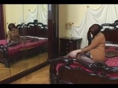Two strapon queens fuck a sissy crossdresser