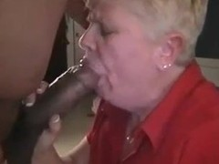 Fat Granny Sucking A Big Black Cock