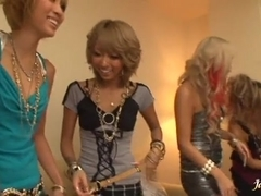 Girls going wild riding cock Mana Izumi, Rio Sakura and Tsubasa