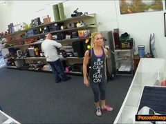 Blonde hottie sells car and gets nailed by pawnshop owner
