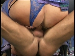 Bea Dumas Gazoo Screwed in Sexy Blue Lace Knickers..