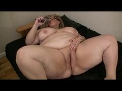 Chunky Overweight big beautiful woman Ex GF masturbating her Soaked Fur Pie