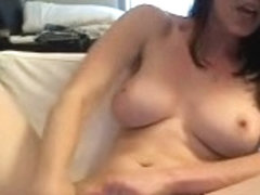 busty nerd plays with herself