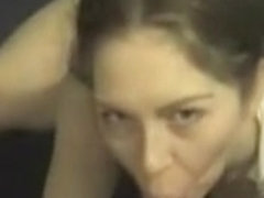 Huge facial for a very busty gal