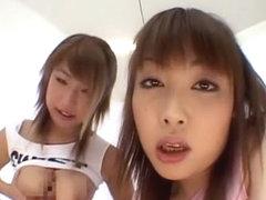 Exotic Japanese chick Megu Hagiwara in Horny Girlfriend, Handjobs JAV movie