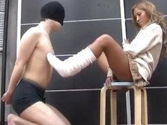 Horny Japanese whore Miduho Nakano in Crazy Femdom, Foot Job/Ashifechi JAV movie