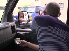 Calenita picks up sexy chick Rachel Starr